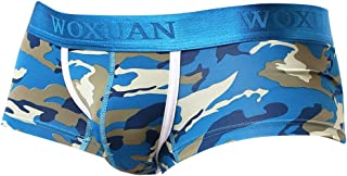 IPOTCH Men's Camo Underwear Camouflage Briefs Low Rise Trunks Shorts S-XL