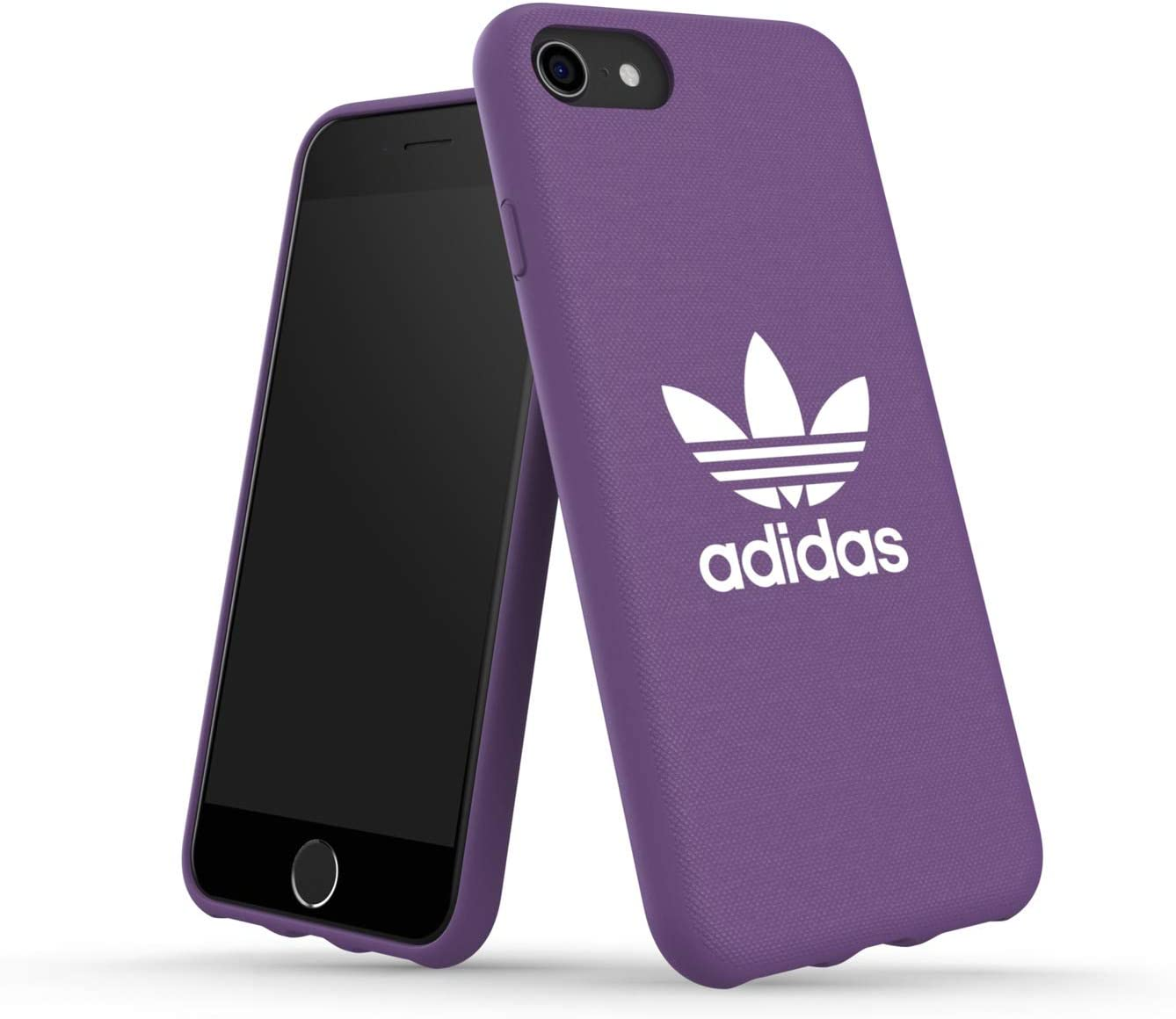 adidas Originals Moulded Case Canvas Designed for New iPhone SE (2020) and iPhone 6/6s/7/8 - Active Purple