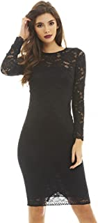 AX Paris Women's 3/4 Sleeve Lace Bodycon