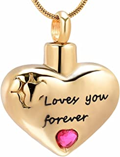 memorial jewelry Heart Cremation Jewelry Keepsake Memorial Urn Necklace …