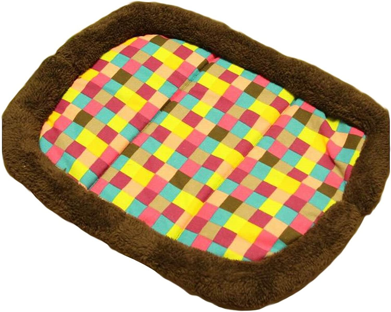 [Plaid] Soft Pet Beds Pet Mat Pet Crate Pads Cozy Beds for Dog Cat