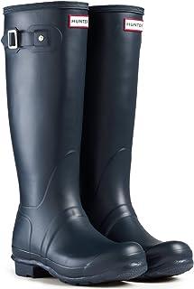 Hunter Women's Boots Original Tall Snow Rain Waterproof Boots - Blue - 9