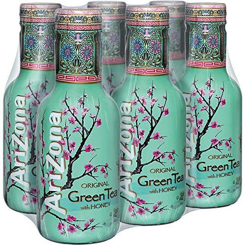 Arizona Half & Half Green Tea Ice Tee - 6x0,5l Flaschen (PET) - inkl. EUR 1,50 Pfand