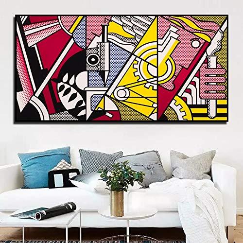 ganlanshu Rahmenlose Malerei Bunte abstrakte Kunst Poster drucken Leinwand Malerei Wandbild für Wohnzimmer Dekoration MalereiZGQ4931 40X80cm verwendet