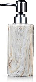 Best Fimary Lotion Soap Ceramic Dispenser Pump - Refill Bath Hand Soap Dispenser Bathroom, Lotion Shower Dispenser with Unique Texture, Cute Soap Dispenser Review