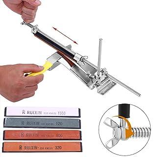 Afilador De Cuchillos Profesional cocina Acero Inoxidable Kits de Afilador de Cocina de Ángulo Fijo Sistema 4 Piedras de afilar