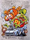 Lagoog Rat Fink Suck My Exhaust, Ed Roth, Big Daddy, Daddy Roth, Signs Vintage Look Reproduction Metal Tin Sign 8X12 Inches Oil Station Gas Sign
