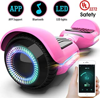 Gyroor Swift Hoverboard Self Balancing Hoverboard with Music Speaker LED Lights, 6.5 inch Two-Wheel Hoverboard with UL2272 Certificated