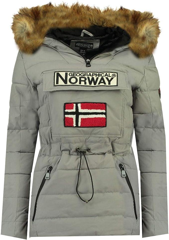 cord/ón de ajuste a la talla con capucha con forro sint/ético Abrigo acolchado para mujer Geographical Norway disponible en 5 colores de S a XXL modelo Belinda