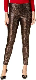 Alfani Metallic Ponte Skinny Pants