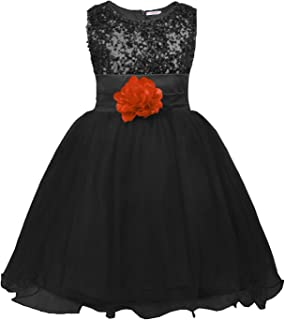 Little Girls' Sequin Mesh Flower Ball Gown Party Dress Tulle Prom