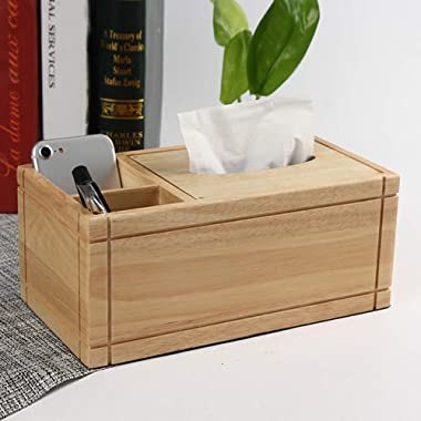 ZXY-NAN Elegant Jewelry Storage Box Multifunctional Solid Wood Tissue Storage Box Desktop Sundries Collecting Rack for Home a