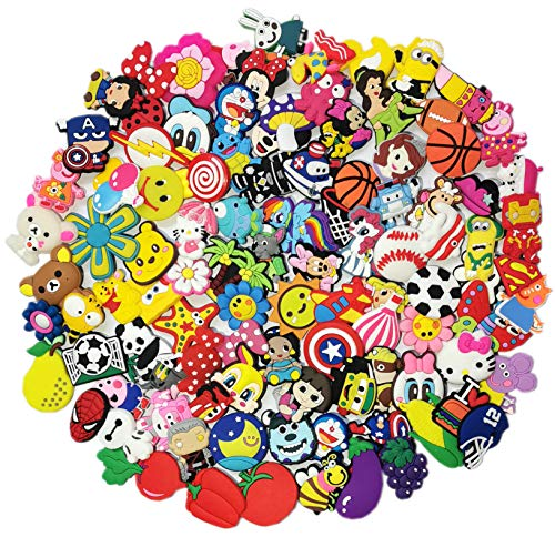 100 Pcs Lovely Shoe Charms Fits for Shoes Decorations And for Wristband Bracelet Party Gifts
