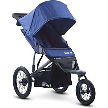 Joovy Zoom 360 Ultralight Jogging Stroller, Large Canopy, Lightweight Jogger, Extra Large Air Filled Tires, Blueberry