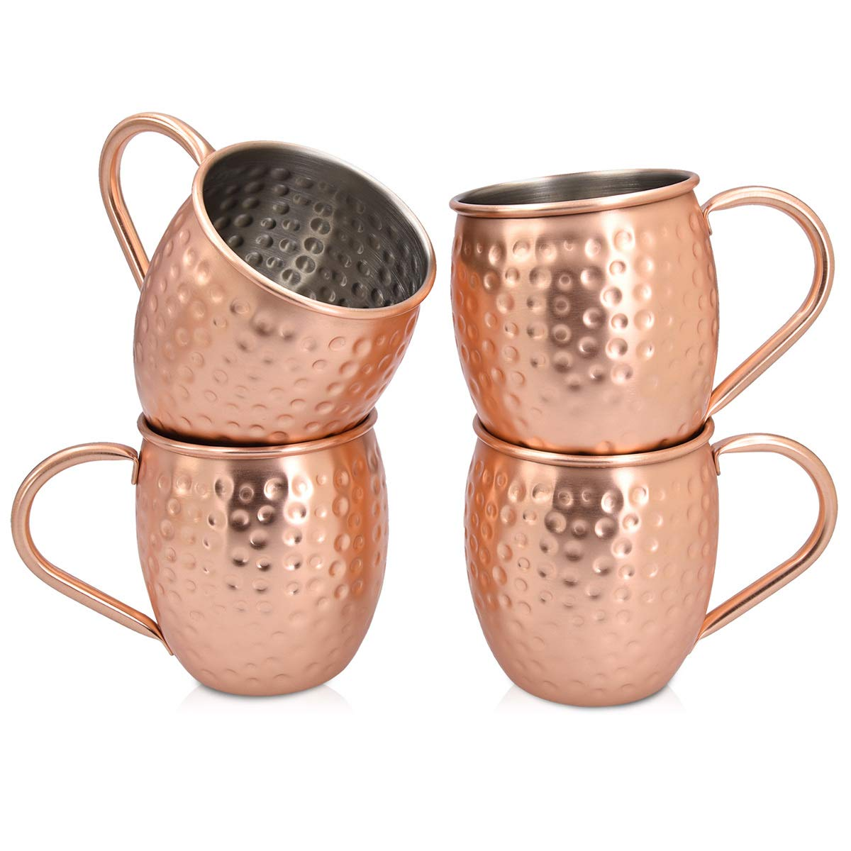 Moscow Mule Mug Cup Drinking Hammered Copper Plated Stainless Steel 500ml