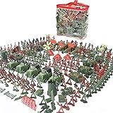 Hifuture Soldatini Giocattolo di Plastica, 4-9 Cm Toy Soldiers Army Toys Tradizionale Plastica Verde per Giochi di Guerra Army Military Toys Giocattolo Militare per Bambini Sand Table Model Thrifty