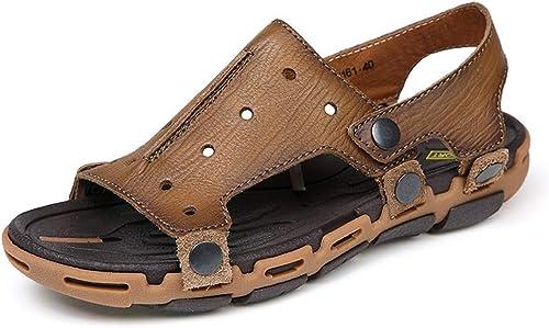 Kieuyhqk Sandales de Plage à Chevrons Sandale pour pour pour Hommes Chaussures Simples Chaussures de Bateau Sandales et Pantoufles de Plage (Couleur   Marron, Taille   38 2 3 EU) 5c6