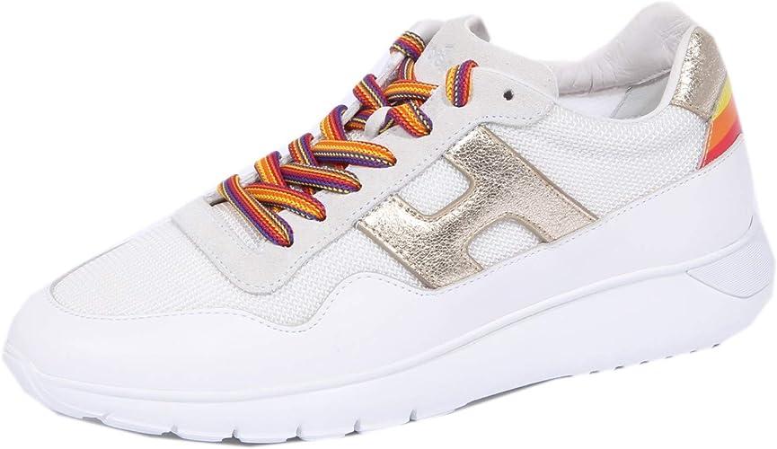 Hogan 1099J Sneaker Donna White/Gold 86 H371 Interactive 3 Shoe Woman