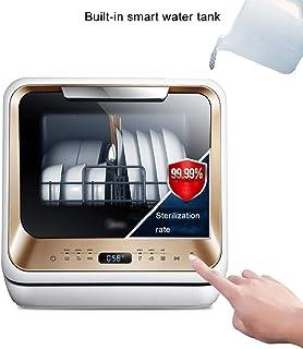 Dongyibing Lavavajillas Lavavajillas De Sobremesa Lavavajillas Doméstico Automático Lavavajillas De Secado Pequeño Lavavajillas Sin Instalación (Color : Gold, Size : 42 * 43.5 * 43.5cm)