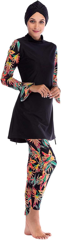 TAAMBAB Damen Middle East Muslim Muslim Muslim Bescheiden Badeanzug Bathing Suit Muslimischen Badeanzug 3-Stück Badeanzug B07MRGKBTM  Moderne und elegante Mode 080368