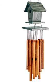 WOODMUSIC Wind Chime Outdoor, 36'' Bamboo Wooden Birdhouse Wind Chimes for Ourdoor & Indoor,Garden, Yark,Patio and Home Décor