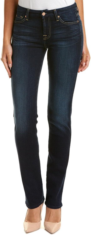 7 For All Mankind Womens Karah Cypress Sanded Dark Straight Leg, 23, bluee