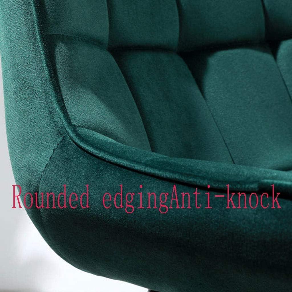 HEJINXL Chaises Salle Manger Chaises Comptoir Cuisine Lounge Lounge Salon Chaises Angle  Velours Réception Bleue Dossier Chaises (Color : D) C