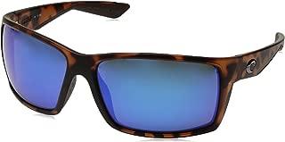 Costa del Mar Reefton Sunglasses Matte Retro Tortoise/Blue Mirror 580Glass