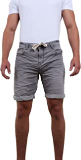Riverso Men's Sweat Jeans Shorts 'FRED' Summer Bermuda Sweat Pants - Black - Grey - Blue - Dark Blue