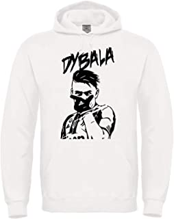 Maglieria Conforti Felpa di Paulo Dybala 10 - La Joya - con Cappuccio Bianca o Nera - Esultanza Dybala Unisex