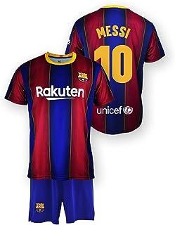 Set van shirt en broek replica FC Barcelona 1. EQ seizoen 2020 – 21 – gelicentieerd product – Dorsal 10 Messi – 100% polye...