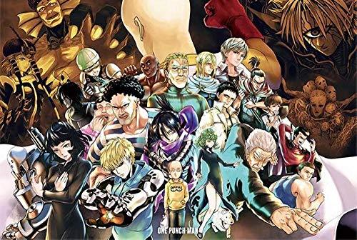 Spetich One-Punch Man 1000 Stück Cartoon Anime Holzpuzzles Erwachsenenunterhaltung Montage Toys-50 * 75Cm-1000 Stück Geschenke Für Frauen/Männer