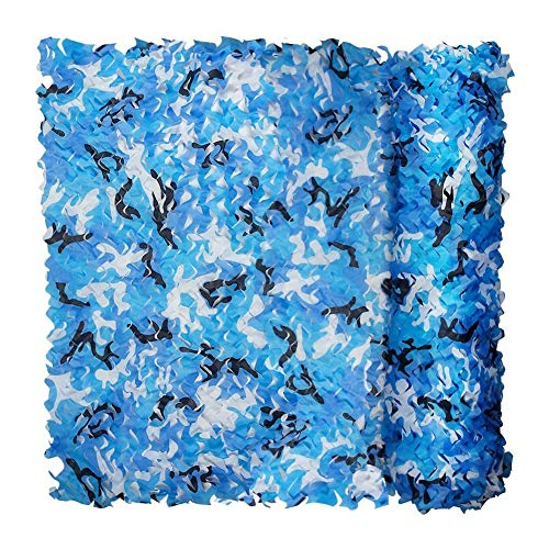 YBZX Camouflage Netting Blue Dens Hide Camouflage Net Army Camo Netting Oxford Fabric Great For Sun Shade Tent Camping Shooting Hunting