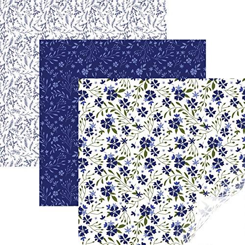 Cricut Ferro padronizado, azul florido, 30 x 43 cm