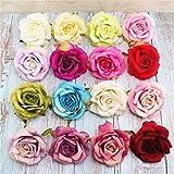 FLEUR ARTIFICIELLE Roses Artificielles Mousse pour Bouquet De Mariée Décoration DIY pour Mariage Fête Maison-16 Pcs Multicolore