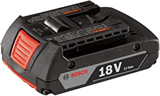 Bosch BAT612 18-volt Lithium-Ion 2.0 Ah Slim Pack Battery with Digital Fuel Gauge