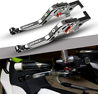 T-MAX 530 500 CNC Adjustable Palanca de Embrague de Freno para Yamaha Tmax 530 500 2008-2016 Tmax 530 SX DX 2017-2018-Titanio+Titanio+Negro+Rojo