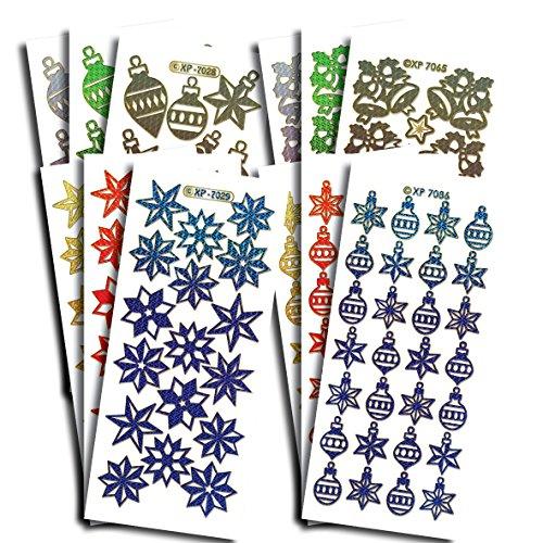 Creatieve producten Prismatische Kerst Foto's Craft Stickers, Stickers, Multi-Kleur