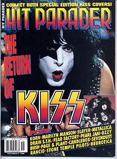 Hit Parader Magazine KISS Paul Stanley Cover KORN Scott Weiland METALLICA Drain STH Robert Plant December MARILYN MANSON 1998 C