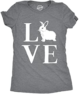 394f93986f077c Womens Love Bunny Tshirt Cute Adorable Easter Sunday Rabbit Tee for Ladies