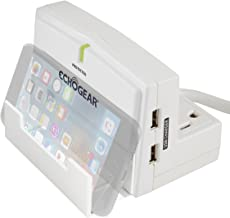 ECHOGEAR Charging Station for Phones & Tablets with Built-in Device Stand - Quickly Charges Devices & Has 1080J of Surge Protection for 3 AC Outlets & 2 USB Ports - Great for iPhone or iPad