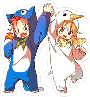 B. Strange Mall Happy Natsu and Plue Lucy (Fairy Tail) Sticker!!! Stickers (3 Pcs/Pack)