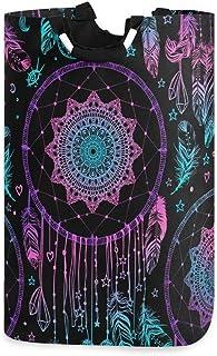ALARGE Panier à Linge Tribal Ethnique Indien Attrape-rêves Lune Pliable Durable Panier à Linge Sac de Rangement Poubelle à...