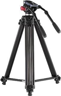 Trípode Andoer 180cm Trípode Pro de Cámara Video de Aleación de Aluminio con Doble Manejado Cabeza Fluid placa de zapato rápido 1/4 y 3/8 para Canon Nikon Sony Panasonic DSLR Grabadora DVBolsa