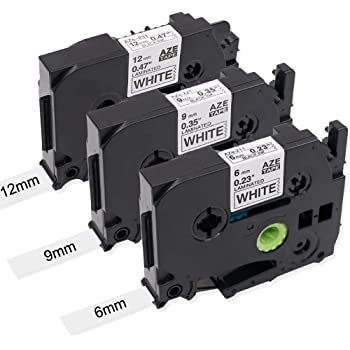 TZE TZ2 6mm 9mm 12mm P-TOUCH H101C ANY 3 COMPATIBLE LABEL TAPES FOR BROTHER