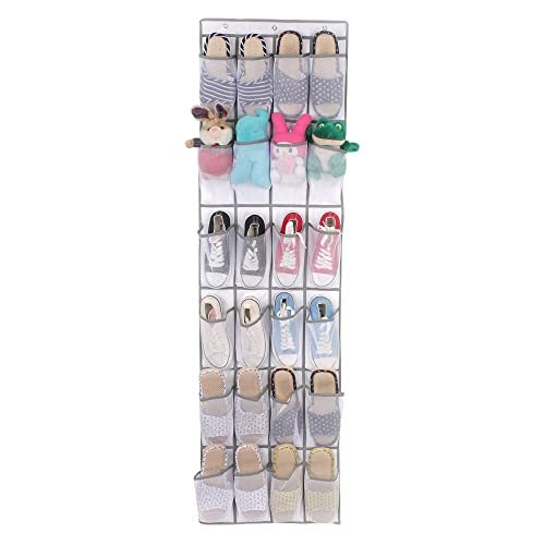 NEWYANG Over the Door Shoe Organiser - 24 Breathable Pockets, Hanging Shoe Holder for Maximizing Shoe Storage, Save space and keep all your items neat and organized.