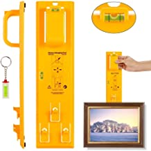 IUEGB Picture Hanger Tool and Mini Acrylic Keychain Block Level Vial for Photo Frames, Mirrors, Clocks, Artwork, Wall Coverings and All Types of Suspension Hardware(Yellow).
