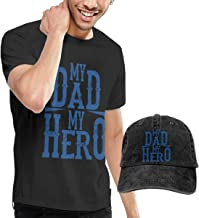 Baostic Camisetas y Tops Hombre Polos y Camisas, My Dad is My Hero Fashion Men's T-Shirt Hats Youth & Adult T-Shirts