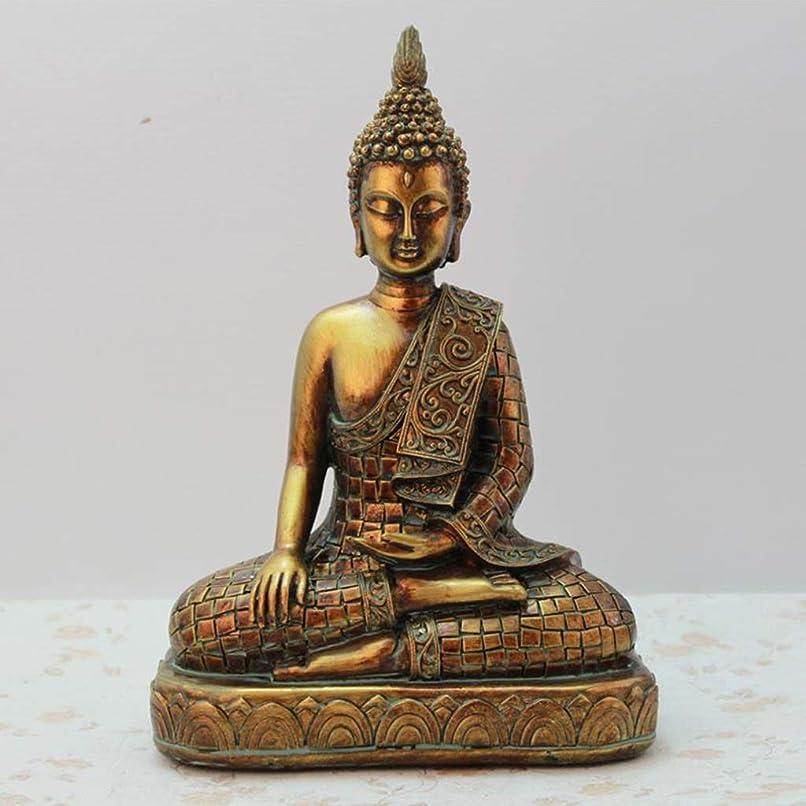忘れる畝間そしてNTWXY 樹脂仏像、タイの黄金仏像の装飾、家の安置所、タウンハウス悪霊、17.5×8.5×23.5cm