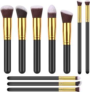 IYOCHO 10 Pcs makeup brushes, makeup brush set, synthetic foundation brush, mixed powder, blush, concealer, shadow, makeup brush kit